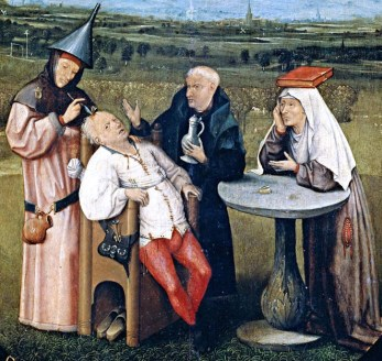 Hieronymus Bosch, The Extraction of the Stone of Madness, c.1488-1516. Rijksmuseum, Amsterdam.