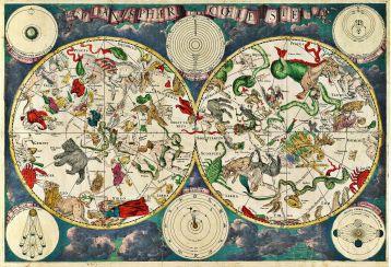 Celestial map by Frederik de Wit (around 1670)