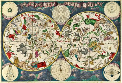 Celestial map by Frederik de Wit (around 1670)