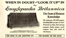 Advertisement for the Encyclopædia Britannica in a May 1913 issue of the National Geographic