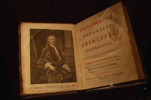 Isaac Newton's Philosophiae Naturalis Principia Mathematica (1687), photographed at the John Rylands Library, Manchester, by Paul Hermans