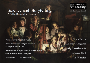 Science and Storytelling Poster
