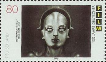 German stamp, 1995, 100 Years of Film. Commemorating Fritz Lang's Metropolis, 1927