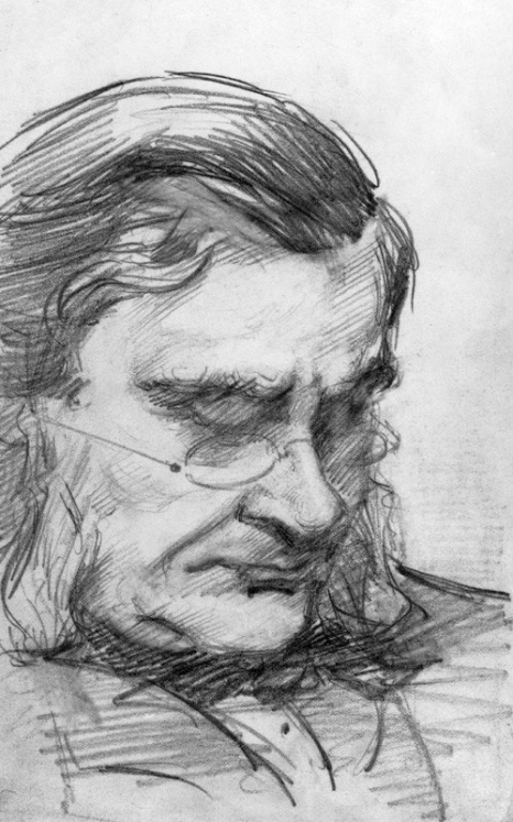 Thomas Henry Huxley by Marian Collier (née Huxley), 1880-1885